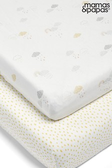 2 Pack Mamas & Papas Dream Upon a Cloud Fitted Sheets