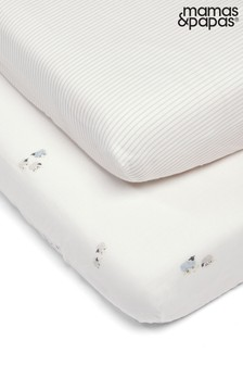 2 Pack Mamas & Papas Welcome to the World Farm Fitted Sheets