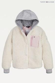 Tommy Hilfiger Cream Sherpa Jacket