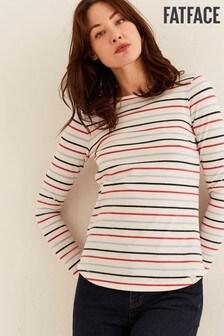 FatFace Natural Organic Cotton Multi Breton T-Shirt