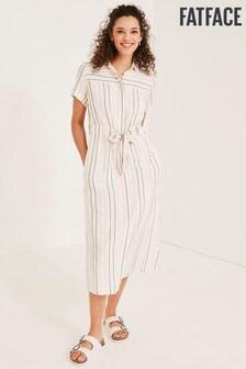 FatFace Natural Carey Stripe Dress