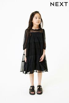 Tiered Mesh Dress (3-16yrs)