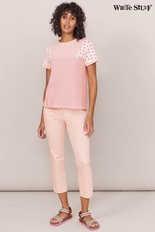 White Stuff Pink Isla Cropped Jeggings