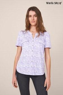 White Stuff Plum Short Sleeve Fenella Jersey Shirt