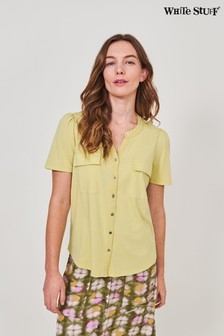 White Stuff Green Short Sleeve Fenella Jersey Shirt