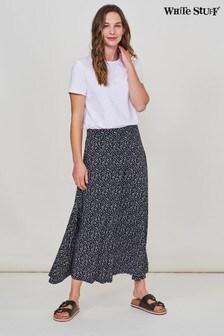 White Stuff Navy Jada Jersey Maxi Skirt