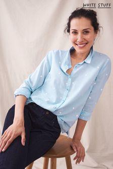 White Stuff Blue Emma Shirt
