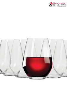 Set of 6 Maxwell Williams Vino Stemless Red Wine Glasses
