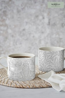 Set of 2 Morris & Co. Strawberry Thief & Willow Bough Mugs
