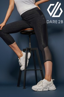 Dare 2B Black Shine Bright 3/4 Active Leggings