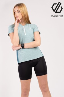 Dare 2B Green Outdare Ii Short Sleeve Cycling Jersey