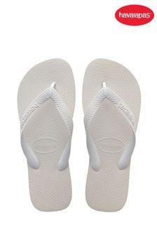 Havaianas White Top Flip Flops