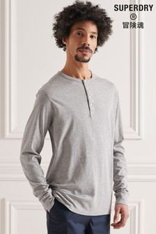 Superdry Organic Cotton Lightweight Essential Henley Top
