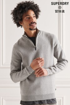Superdry Cotton Knit Henley Jumper