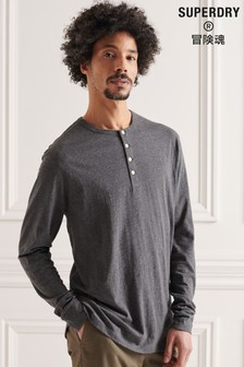 Superdry Organic Cotton Lightweight Essential Henley Top