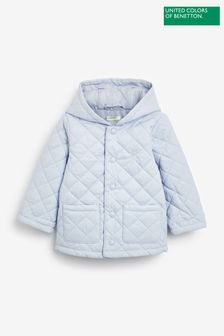 Benetton Quilted Hooded Coat