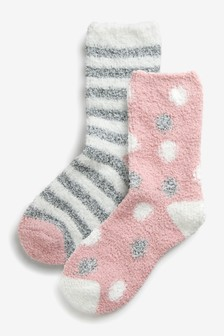 Cosy Bed Sock 2 Pack
