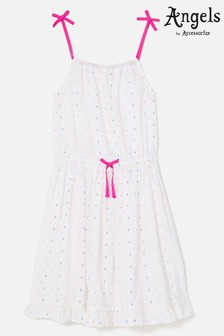 Angels By Accessorize White Dobby Spot Dress