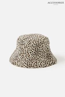 Accessorize Leopard Twill Bucket Hat