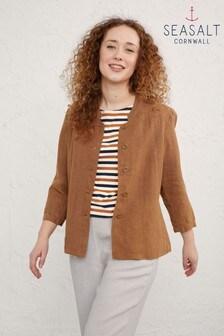 Seasalt Brown Butterscotch Casting Call Jacket