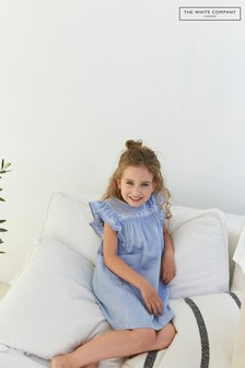The White Company Chambray Embroidered Dress