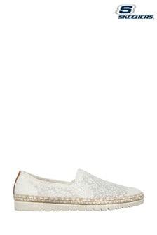Skechers White Flexpadrille 3.0 Summer Siesta Shoes