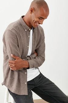 Brushed Cotton Long Sleeve Shirt