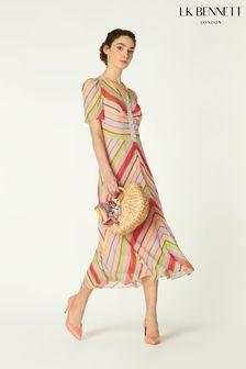 L.K.Bennett x Royal Ascot Natural Holzer Dress