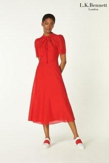 L.K.Bennett Red Sina Dress