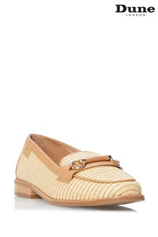 Dune London Natural Glossi Colour Block Snaffle Loafers