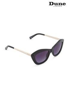 Dune London Black Gallena Angular Cat Eye Sunglasses