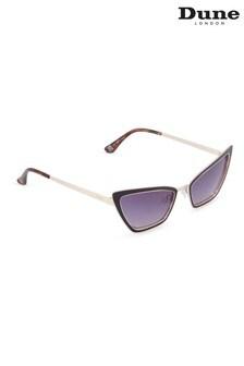 Dune London Black Galissas Cat Eye Sunglasses
