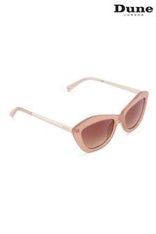 Dune London Natural Gallena Angular Cat Eye Sunglasses