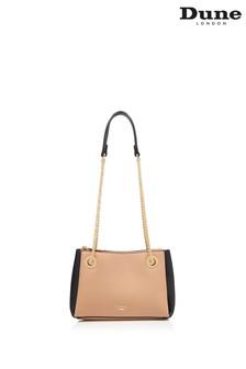 Dune London Natural Bevette Chain Handle Shoulder Bag