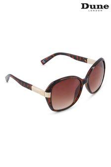 Dune London Brown Grennada Oversized Sunglasses