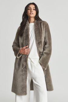 Reiss Jordann Shearling Coat