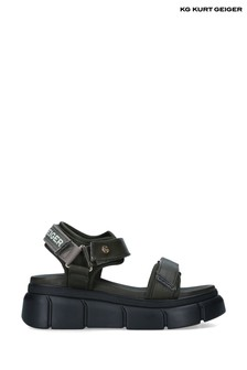 Kurt Geiger Green Vegan Rigged Sandals
