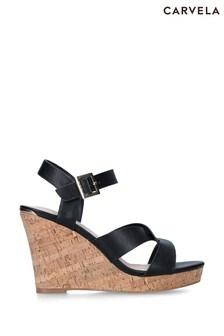 Carvela Black Stand Sandals