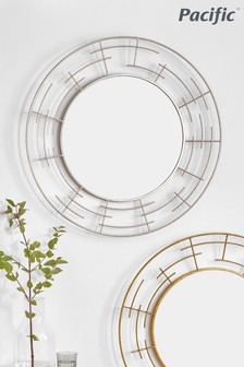 Pacific Metal Frame Round Wall Mirror