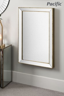 Pacific Foxed Glass Rectangle Mirror