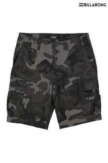Billabong Grey Scheme Cargo Camo Shorts