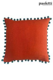 Orange Riva Paoletti Mardi Gras Cushion