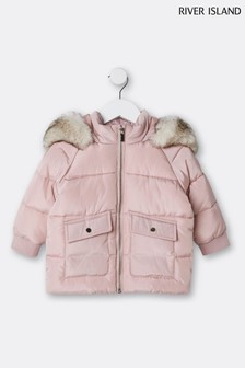 River Island Pink Chubby Puffer Jacket