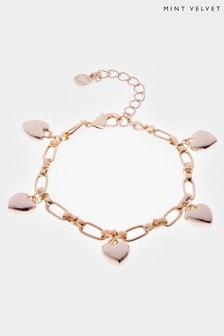 Mint Velvet Gold Tone Heart Bracelet