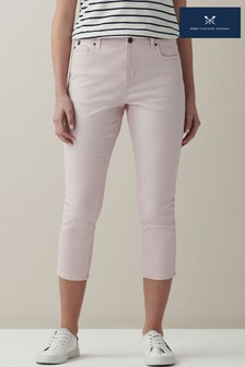 Crew Clothing Company Pink Cropped Jeans