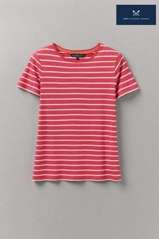 Crew Clothing Company Red Breton T-Shirt