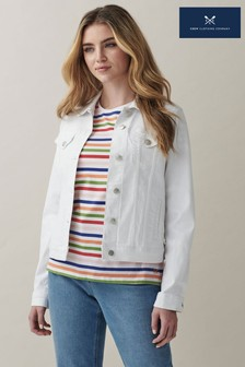 Crew Clothing Company White Denim Jacket