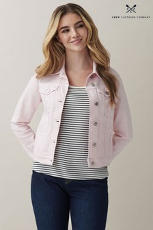 Crew Clothing Company Pink Denim Jacket