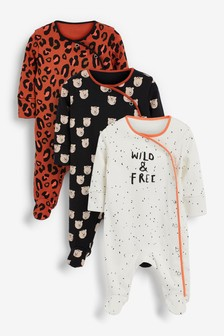 3 Pack Leopard Rompers