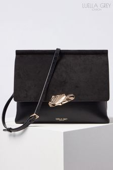 Luella Grey London Megan Sculptured Clasp Cross Body Handbag
